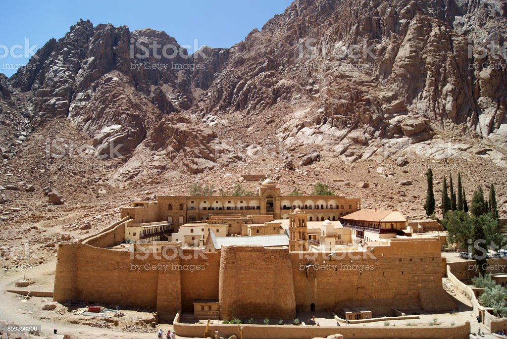 Monastery of St. Catherine, Sinai stock photo
