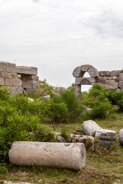 Antakya yakınlarındaki Aziz Simeon Manastırı, Hatay, Türkiye stok fotoğrafı