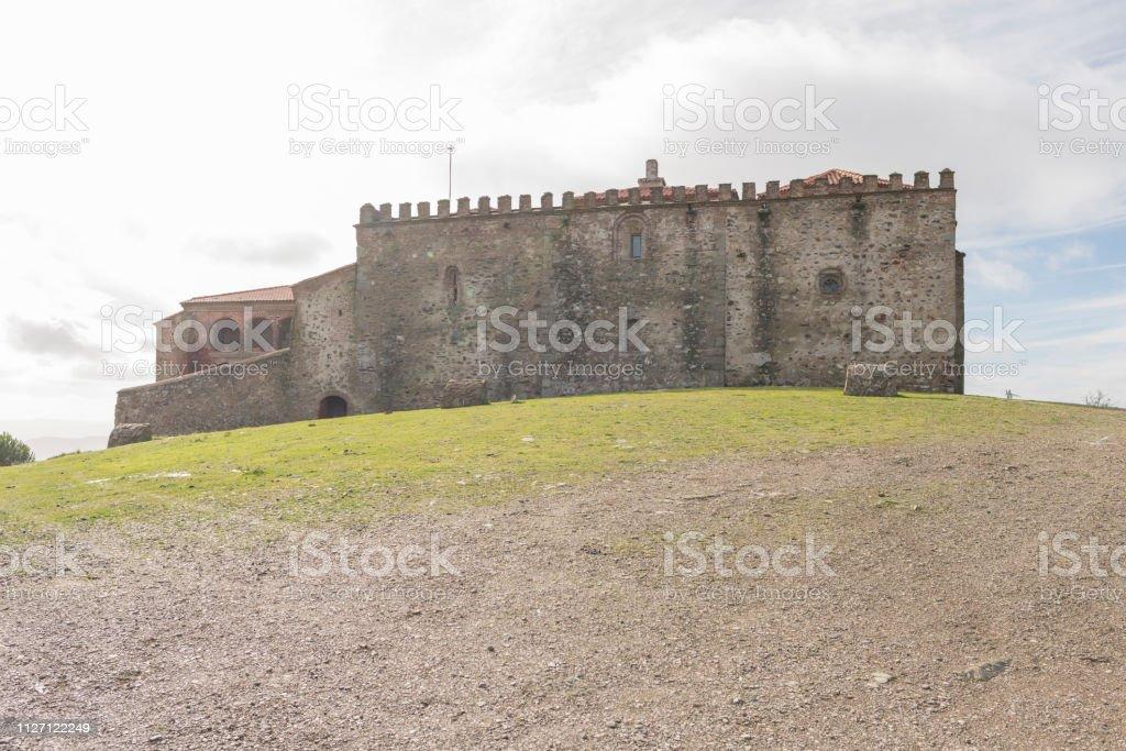Monastery of Tentudia stock photo