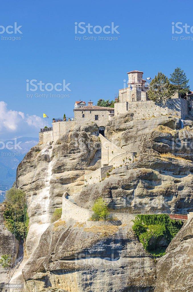 Monastery of the Holy Trinity (1475), Meteora, Greece royalty-free stock photo