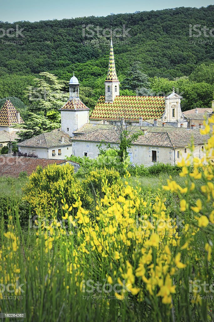 Monastery of Valbonne  in Gard Provencal, France royalty-free stock photo