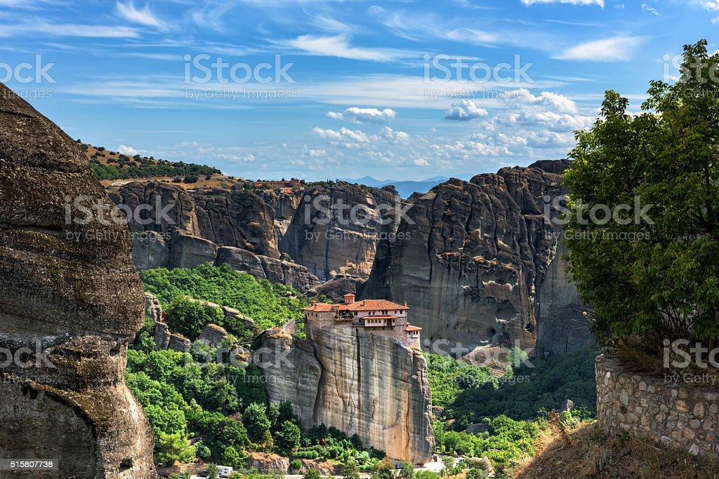 Monastery of Varvara Rusanov, Meteora, Greece stock photo
