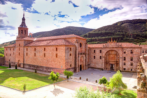 Monastery of Yuso Monastery of Yuso, San Millan de la Cogolla, La Rioja, Spain, UNESCO World Heritage Site abbey monastery stock pictures, royalty-free photos & images