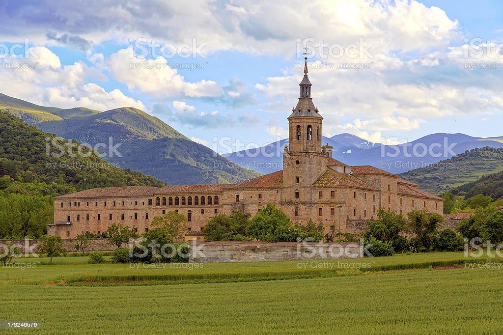 Monastery of Yuso, San Millan de la Cogolla stock photo