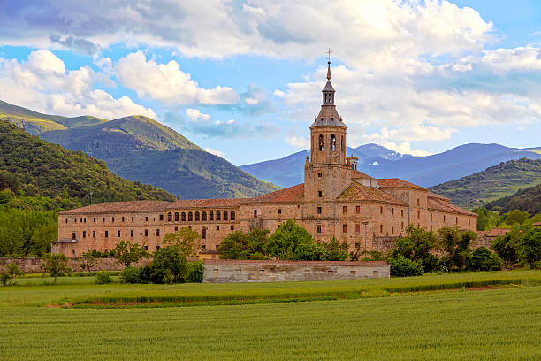Monastery of Yuso, San Millan de la Cogolla Monastery of Yuso, San Millan de la Cogolla, La Rioja, Spain, UNESCO World Heritage Site abbey monastery stock pictures, royalty-free photos & images