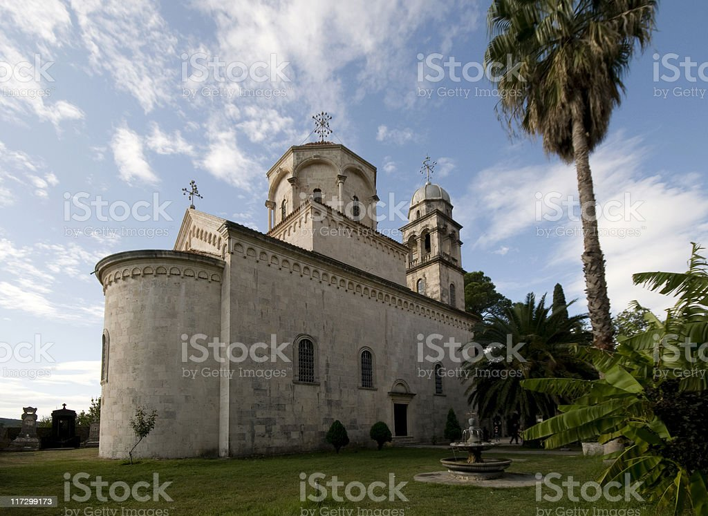 Monastery Savina stock photo