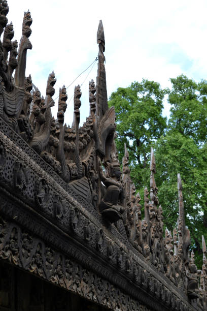 A Monastery That Entirely Made Of Teak Wood In Mandalay
