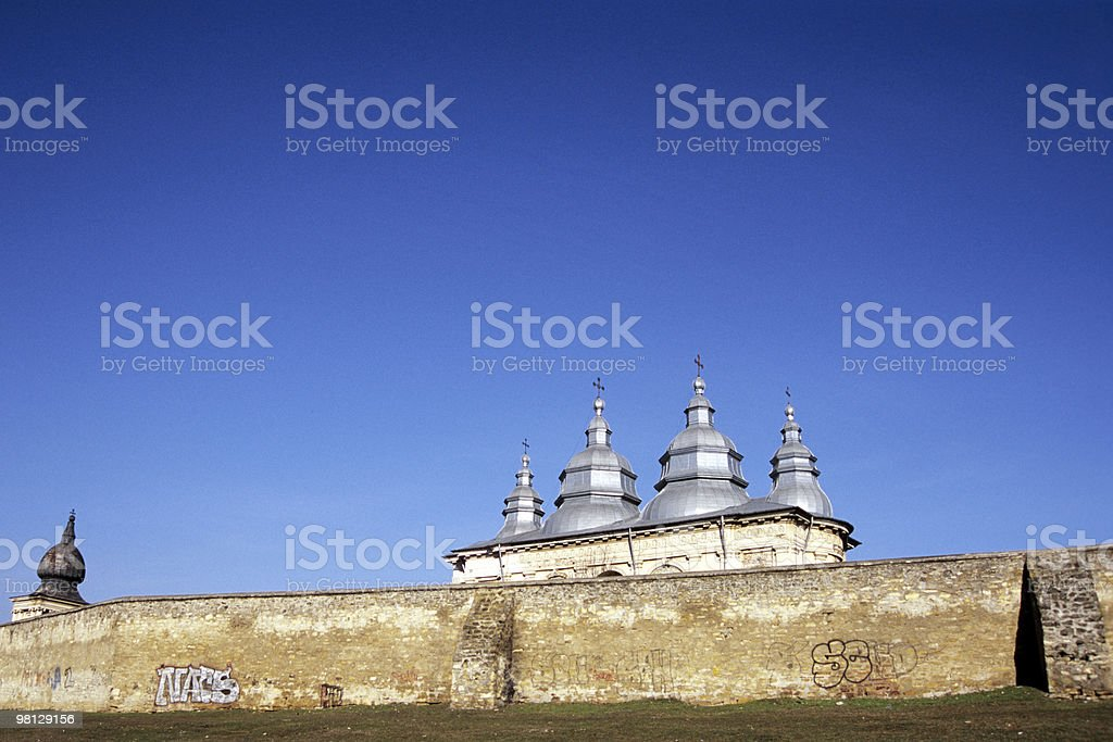 monastery wall royalty-free stock photo