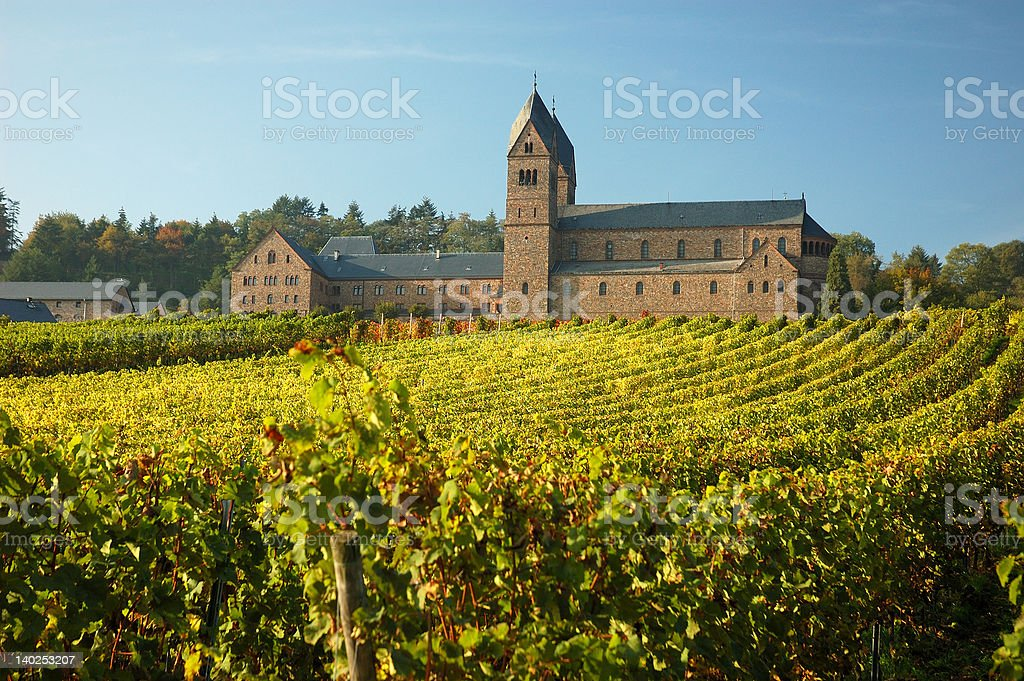 Monastery with a Vineyard stock photo