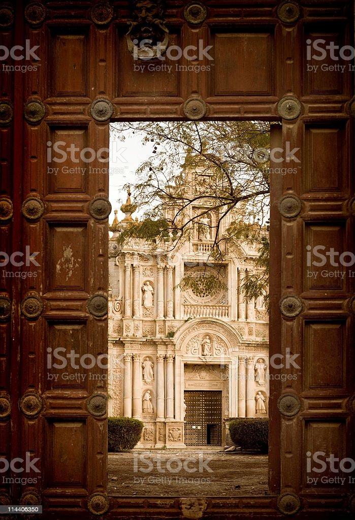 Monastery Within royalty-free stock photo