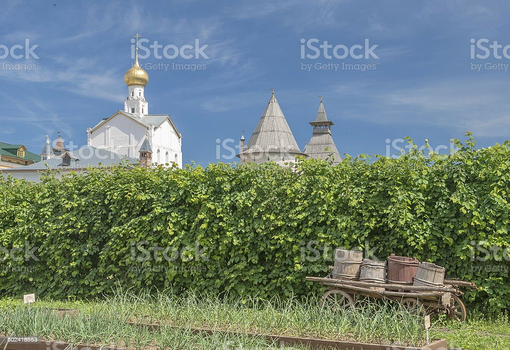 Monastic garden stock photo