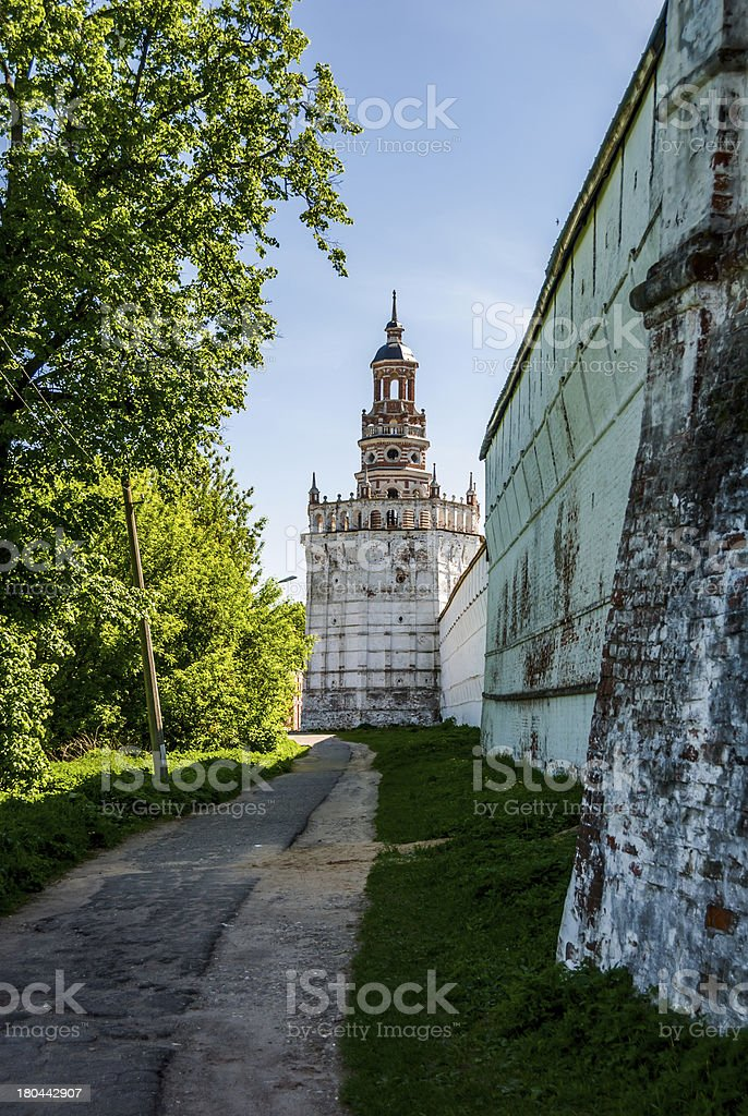 Monastic watchtower stock photo