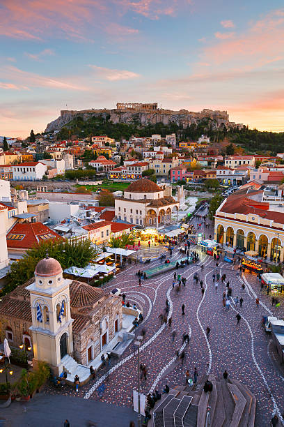 Monastiraki-Platz, Athen. – Foto