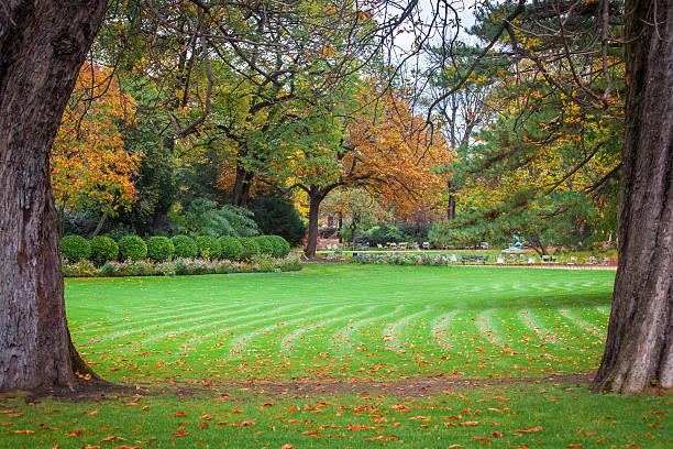 Monceau Park, Paris stock photo