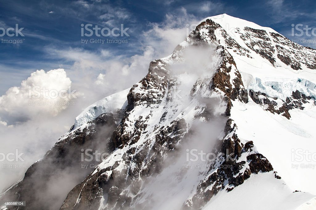 Monch Mountain, Switzerland - from Jungfraujoch stock photo