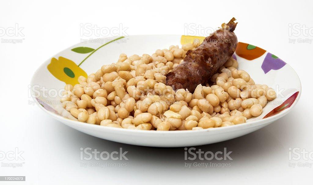 monchetas dish with sausage stock photo
