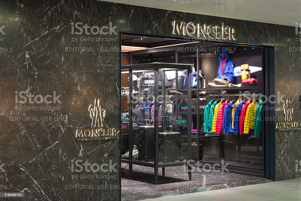 2fe0d3c64 Moncler Store At Fiumicino Airport In Rome Stock Photo - Download ...