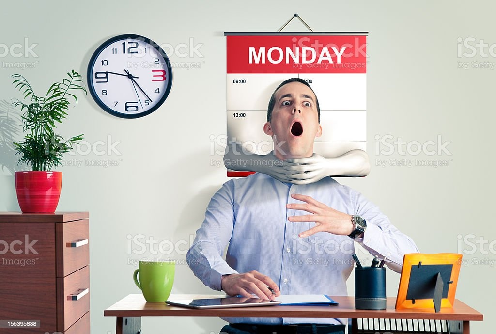 Monday Blues stock photo