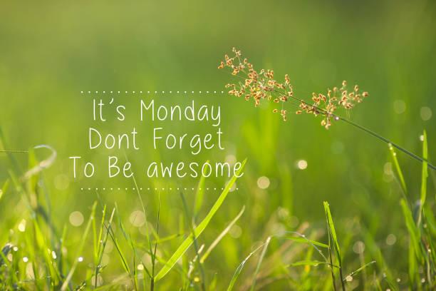 Montag inspirierend Gruß - der Montag, vergessen Sie nicht, genial. – Foto