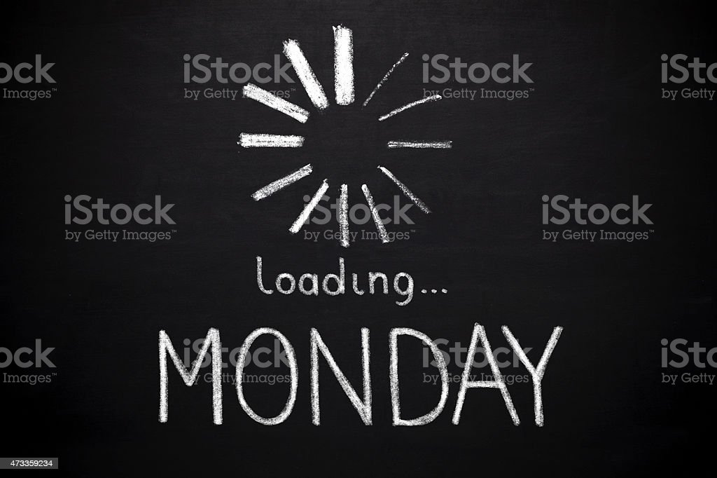 Monday loading stock photo