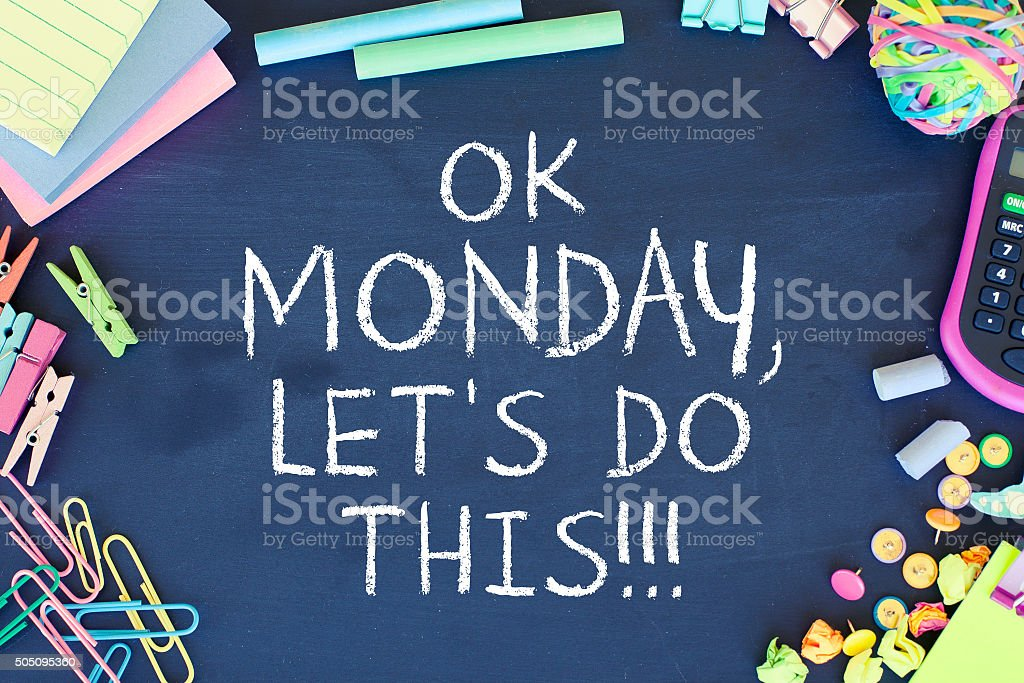 Monday Motivation stock photo