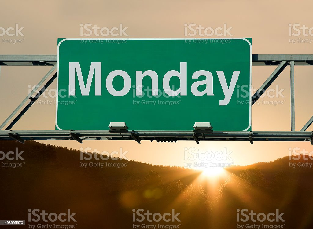 Monday stock photo