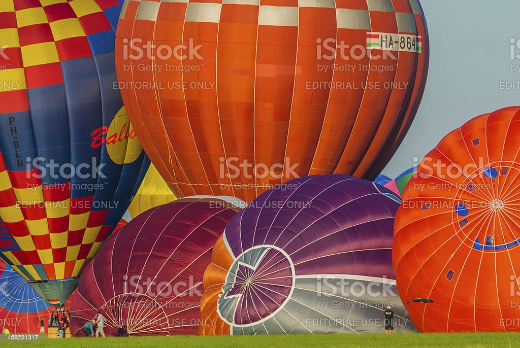 Mondial hot Air Ballon reunion in Lorraine France royalty-free stock photo