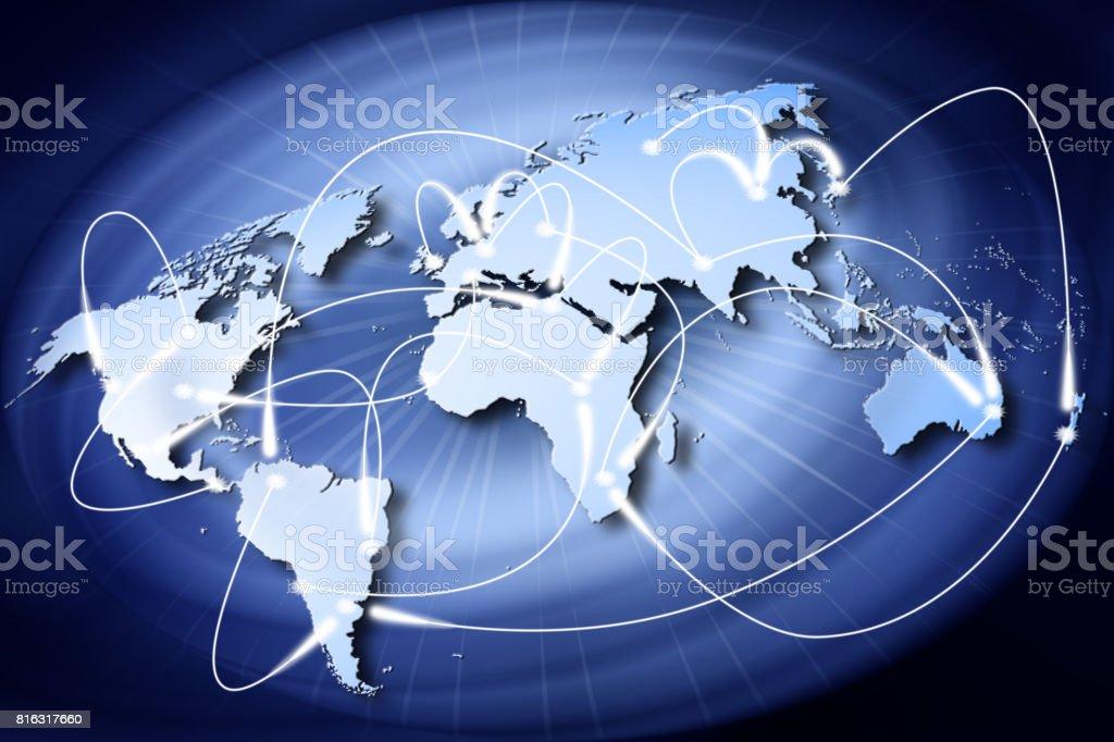 Mondo collegamenti connessione stock photo