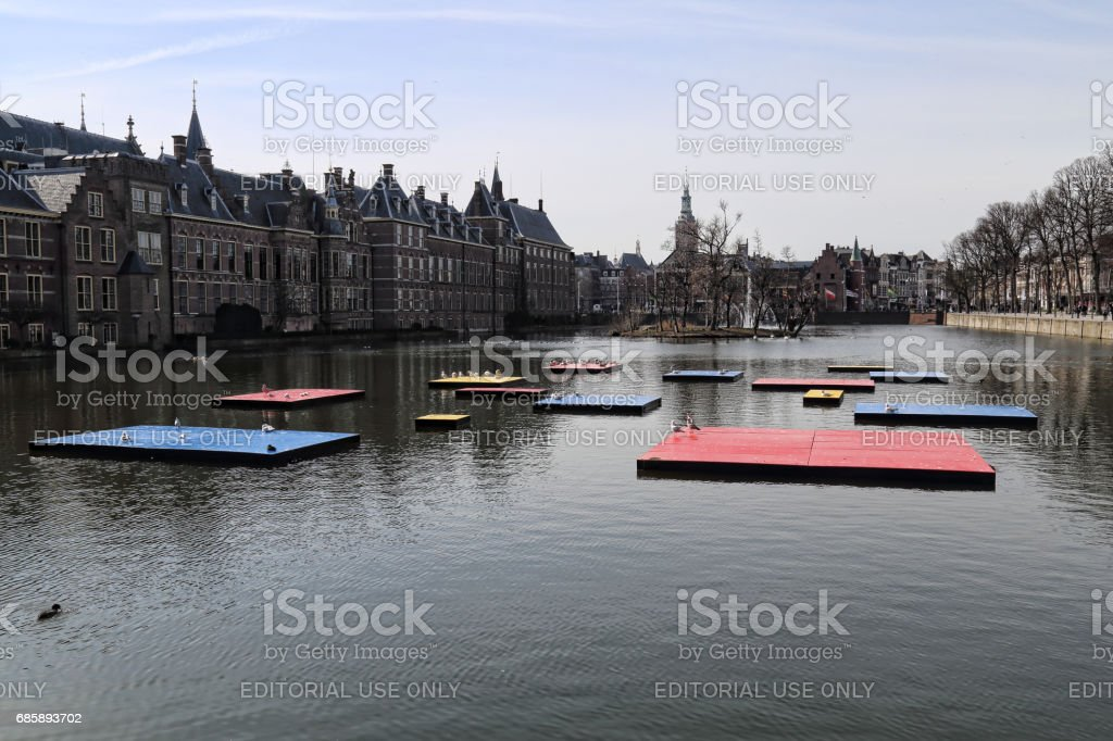 Mondrian celebration in The Hague, Holland stock photo