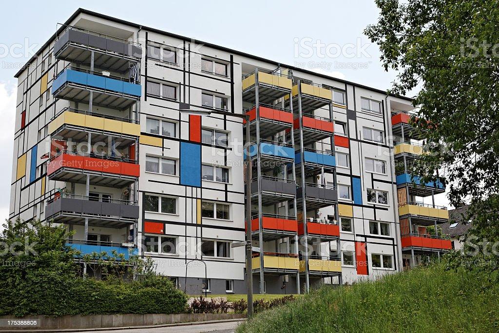 Mondrian house facade stock photo