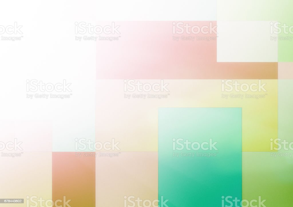 Mondrian style background in pastel colours stock photo