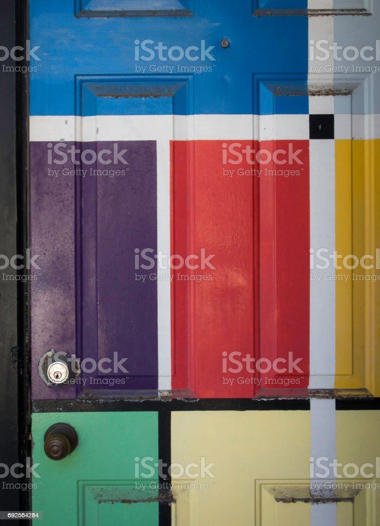 Mondrian-like Doorway stock photo