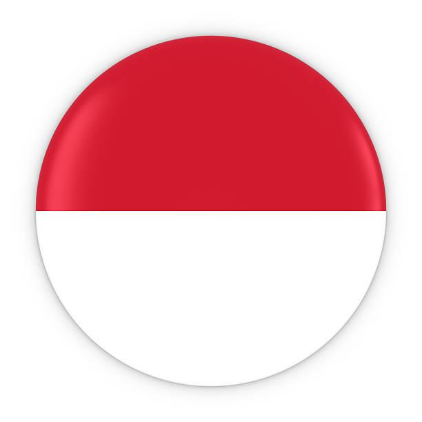 monegasque / indonesian flag button flag of monaco / indonesia - bandeira da indonesia - fotografias e filmes do acervo