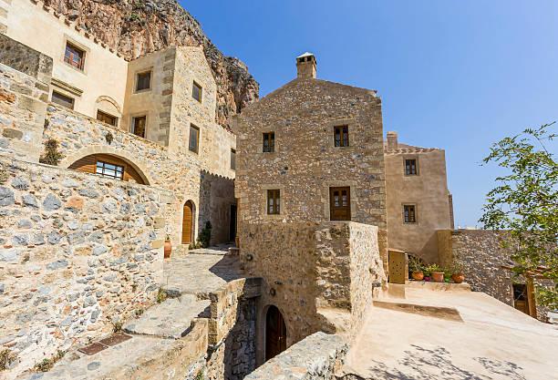 Monemvasia the medieval town in Peloponnese stock photo