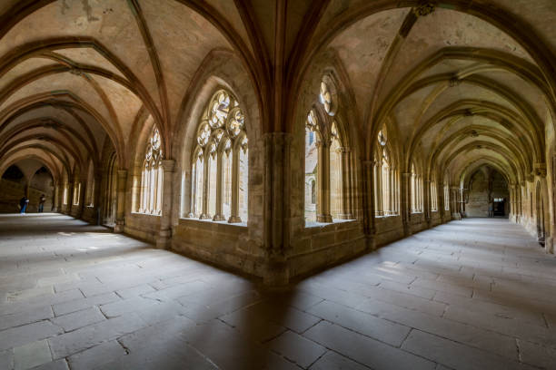 Maulbronn, Germany - April 14, 2017: Monestary Maulbronn from inside with  cloister Maulbronn, Germany - April 14, 2017: Monestary Maulbronn from inside with the  cloister abbey monastery stock pictures, royalty-free photos & images