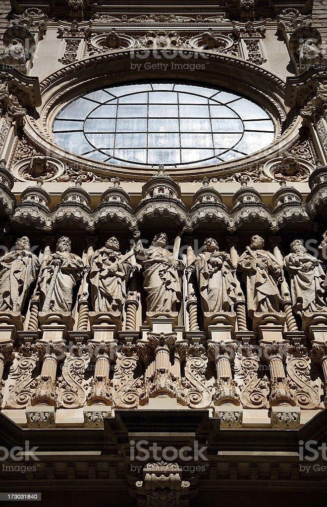 Monestary, Monserrat, Spain stock photo