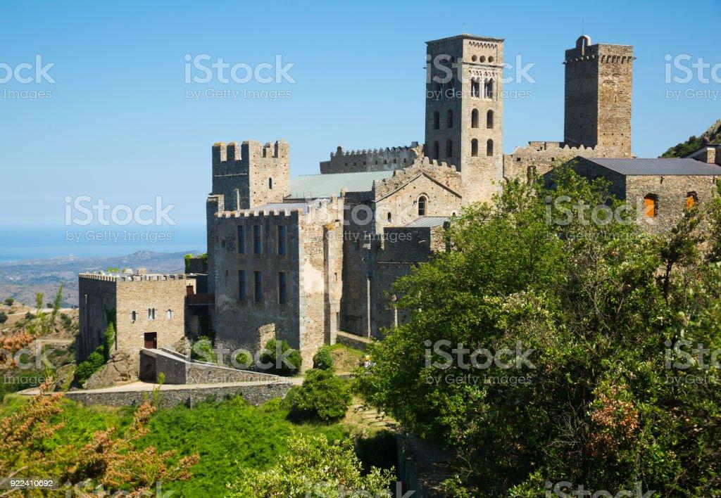 Monestir de Sant Pere de Rodes, Spain stock photo
