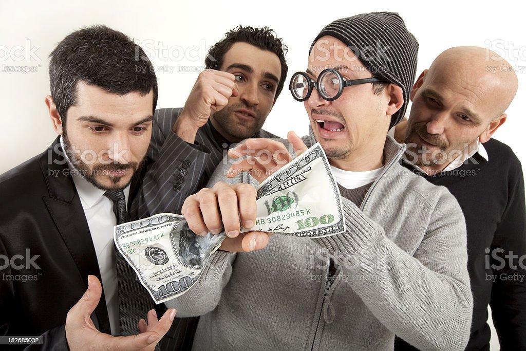 Monetary Jealousy royalty-free stock photo