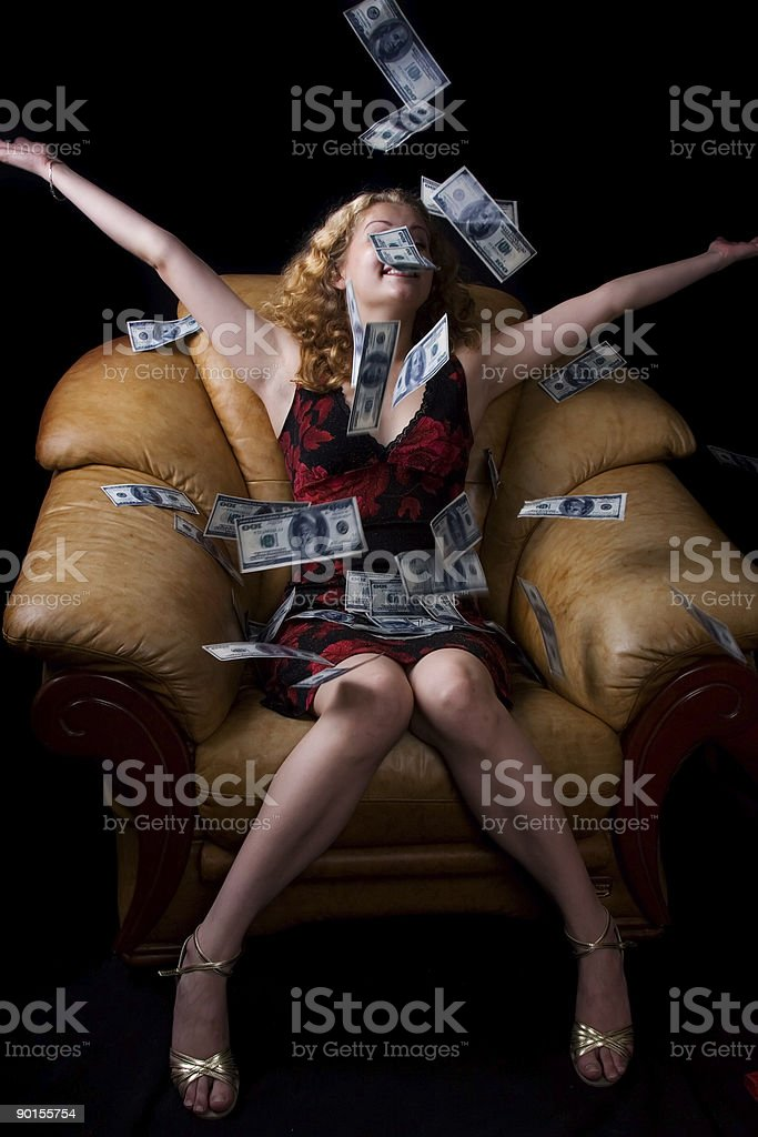 Monetary rain stock photo