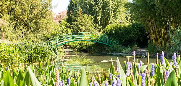 Monet's Bridge and Garden stock photo