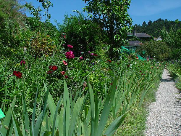 Monet's Flower Garden stock photo