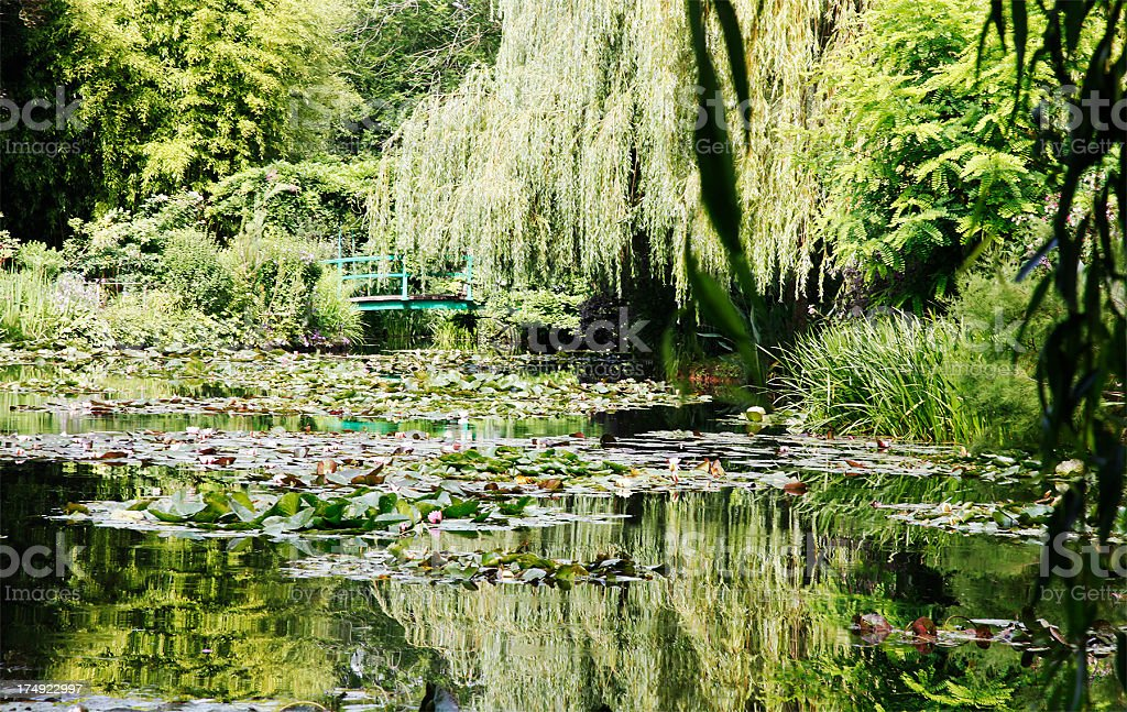 Monet`s lily pond, Giverny stock photo