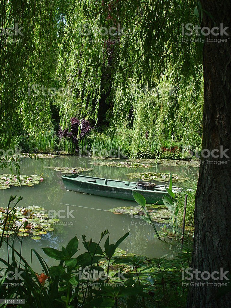 Monet's Water Lily Pond 7 stock photo