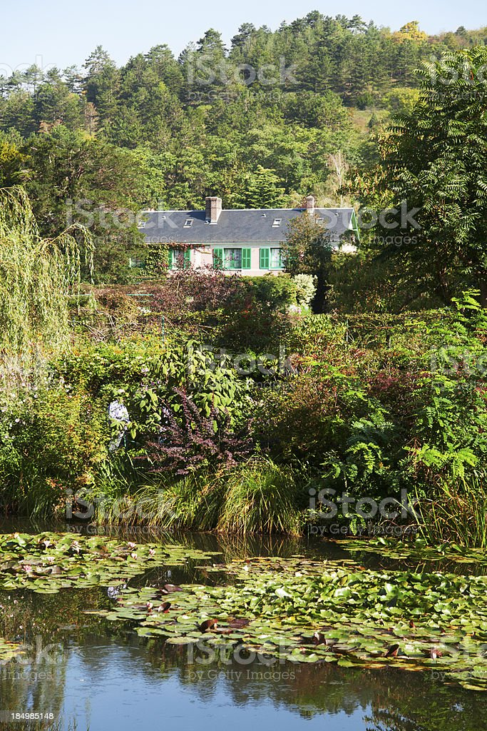 Monet's water lily pond in Giverny stock photo