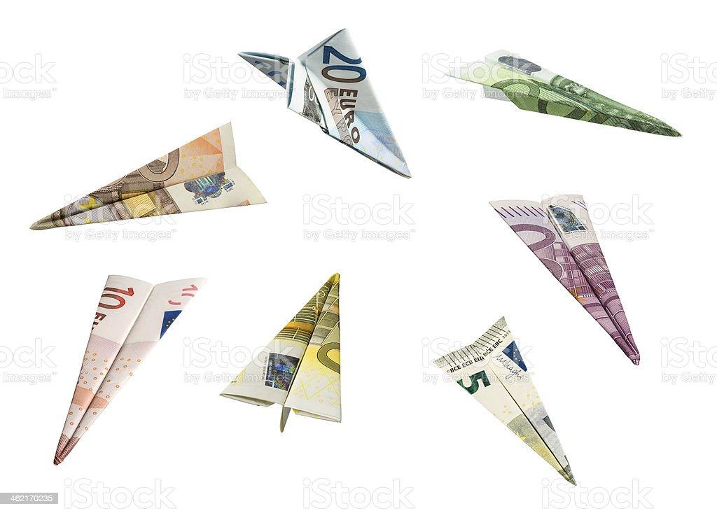 Money Airplanes stock photo