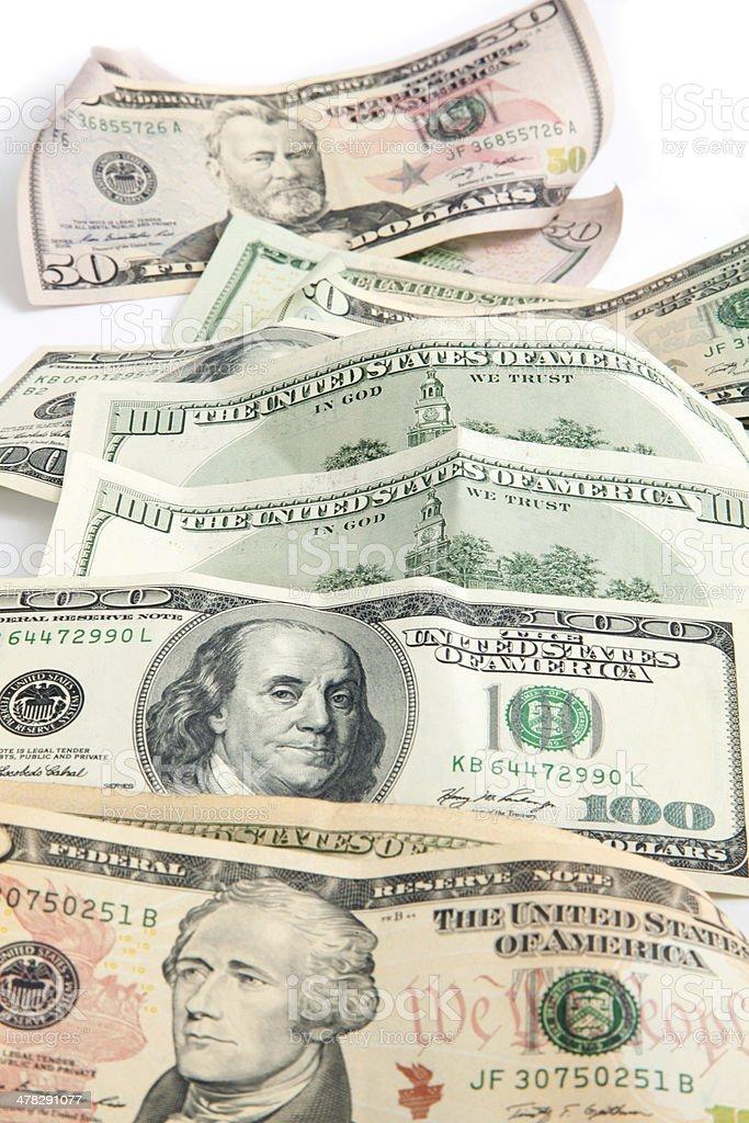 money american all dollar bills royalty-free stock photo