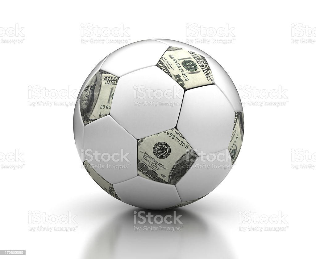 Money & Football royalty-free stock photo