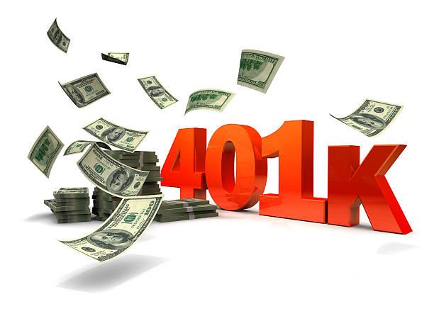 Money and 401K stock photo