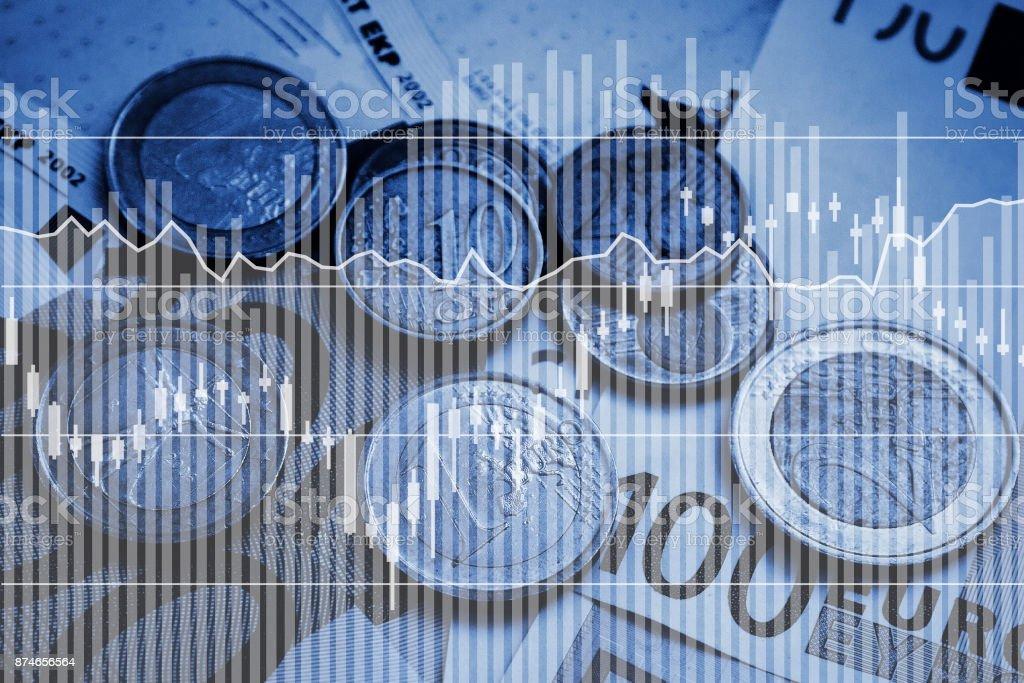 money and business analytics stock photo