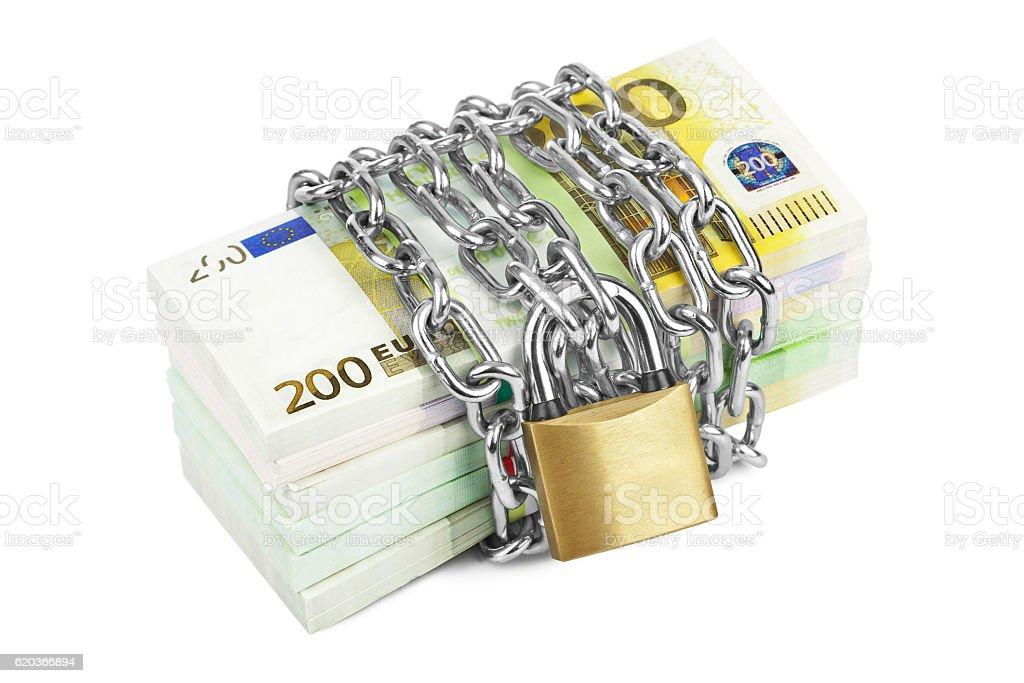 Dinheiro e cadeia foto de stock royalty-free
